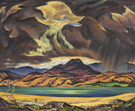 Jock Macdonald, Thunder Clouds Over Okanagan Lake (1944-45)