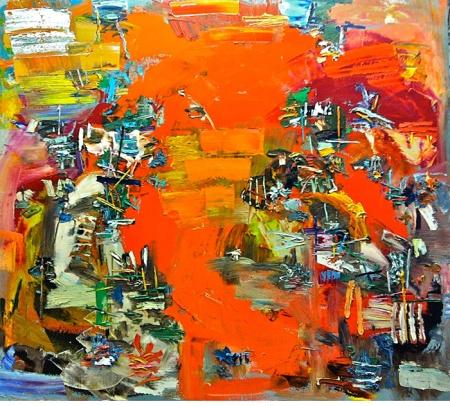 "Michael Adamson, ""Wolf Pavilion"" (2012) Oil on Canvas"