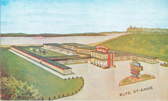 Quebec Postcard -- Helen's Motel