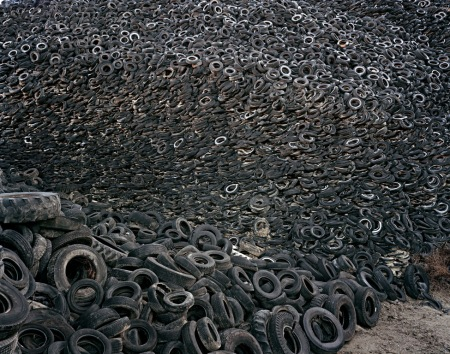 E. Burtynsky -- Oxford Tire Pile No. 9a, Westley, California (1999)
