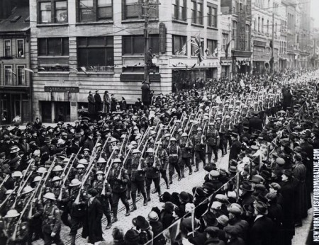 Royal Canadian Regiment in Halifax 1919