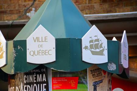 Sign Kiosk, Quebec City