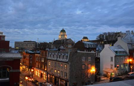 Evening, Rue de St. Jean, Quebec City