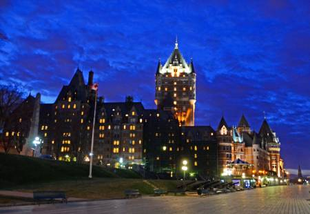Windy Night Near Chateau Frontenac, Quebec City