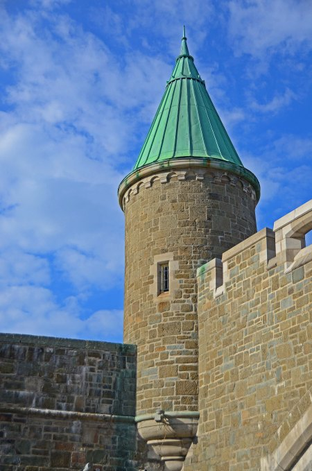 Tower on City Gate, Quebec City