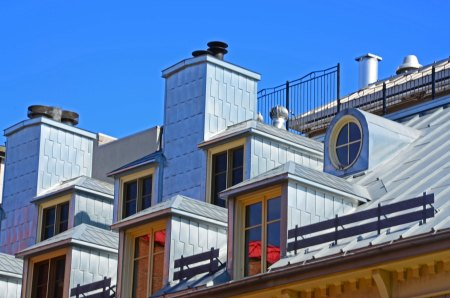 Rooftop Windows and Angles, Quebec City