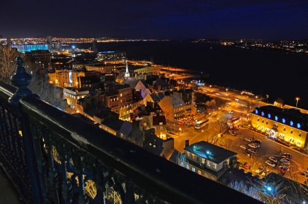 Night Above Lower Town, Quebec City