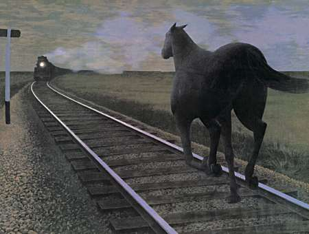 """Horse and Train"" by Alex Colville"