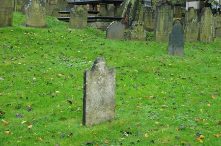 Solitary Gravestone, Markings Erased, Old Burying Ground, Halifax