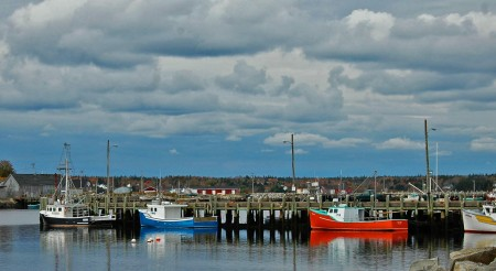 Dockside Scene, Chester, Nova Scotia