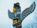 Close Up, KAKASO'LAS Pole, Stanley Park, Vancouver