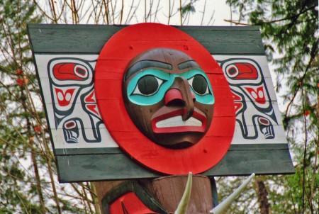 Chief Skedans Mortuary Pole, Stanley Park, Vancouver