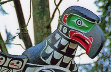 Close Up, Chief Wakas Pole, Stanley Park, Vancouver