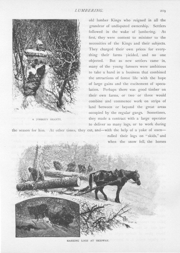 A Jobber's Shanty; Marking Logs at Skidway