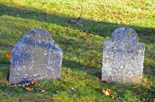 Lichen-Encrusted Gravestones, Loyalist Burying Ground, St. Andrews By the Sea, N.B.