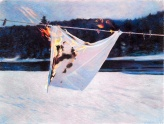 Mary Pratt, Dishcloth On Line #2 (1997)