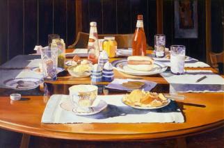 Mary Pratt, Supper Table (1969)