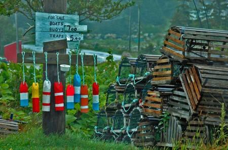 Buoy Signpost, Neils Harbor, Cape Breton, N.S.