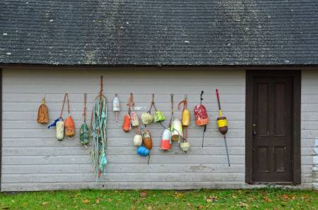 Buoy Display, Shelburne, N.S.