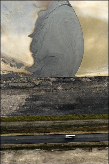 Highway 53 Bitumen Slick