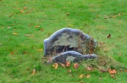 Sunken Tombstones, Garrison Cemetery, Annapolis Royal, N.S.