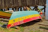 Dory Under Repair, Lunenburg, Nova Scotia