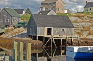 Docks and Sheds, Peggy's Cove, Nova Scotia
