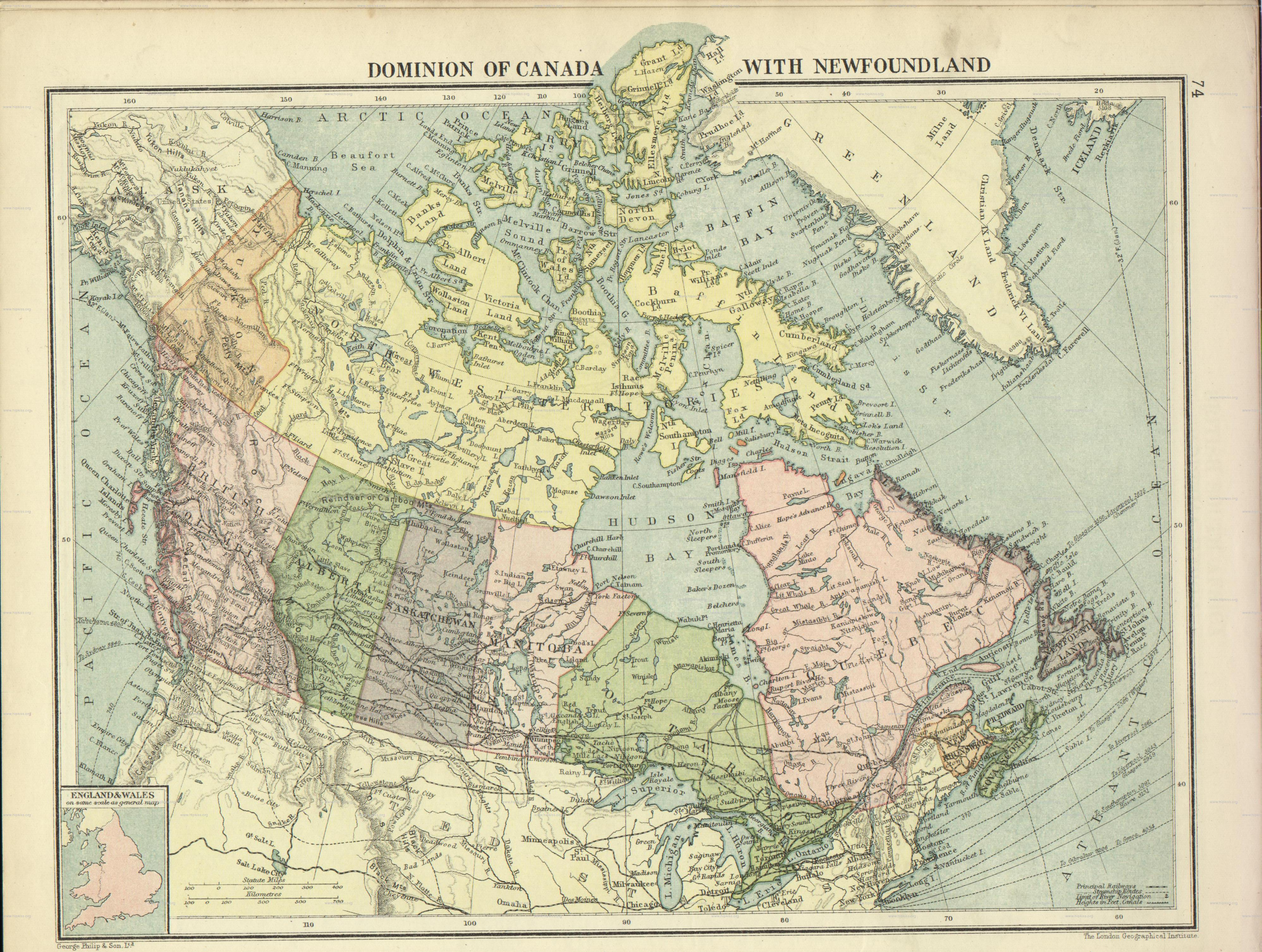 Dates When Canadas Provinces Entered The Confederation Northern - Vintage us road map