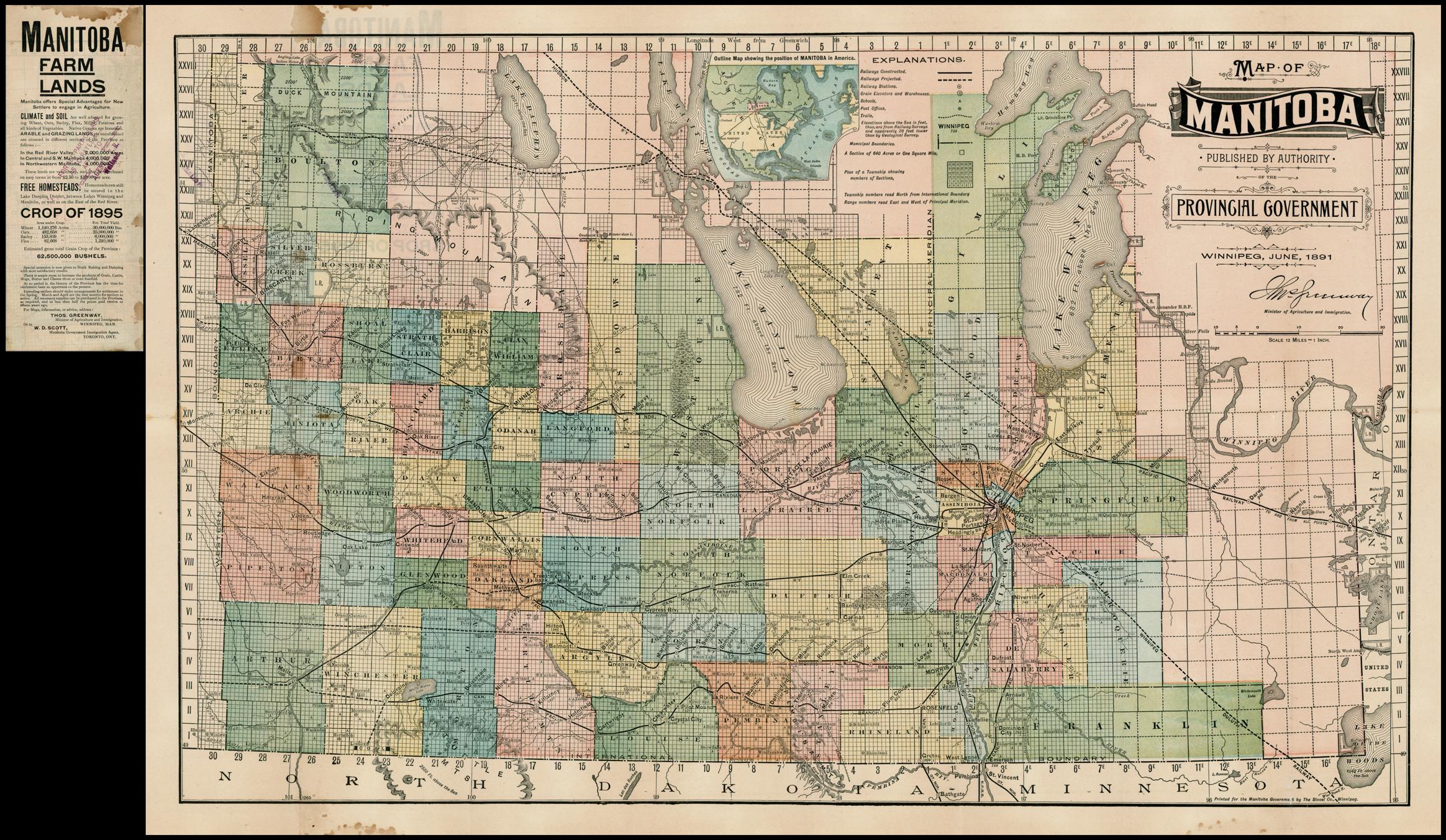 Manitoba Map O Canada - Map of manitoba canada