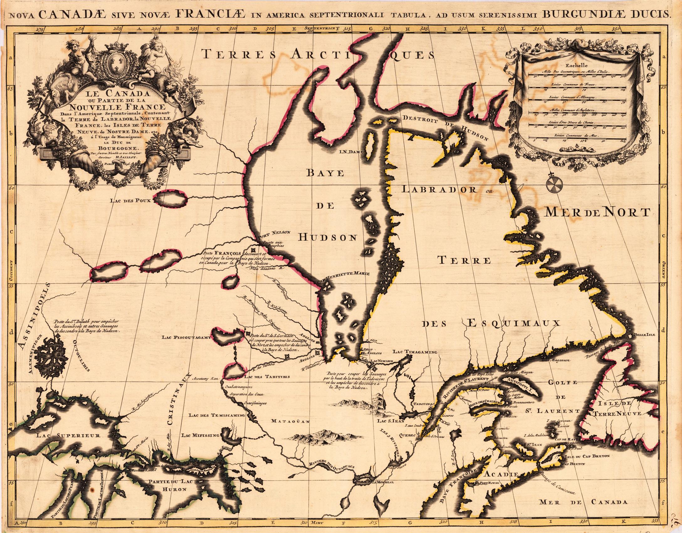 Nova Canadae 1693