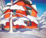 Lawren Harris, Pine Tree and Red House