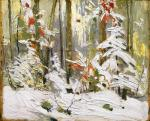 Tom Thomson, Wood Interior, Winter