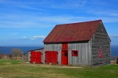 Red and Grey Barn, Ile d'Orleans, Quebec