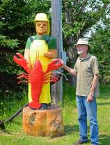 David Taylor, posing with his Nova Scotia Lobsterman