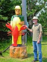 David Taylor, posing with his Nova Scotia Lobsterman