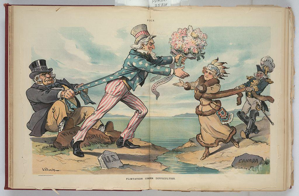 Early U S Canada Political Cartoons 171 O Canada