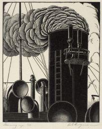 "H. Eric Bergman, ""Steaming Up"" (1935)"