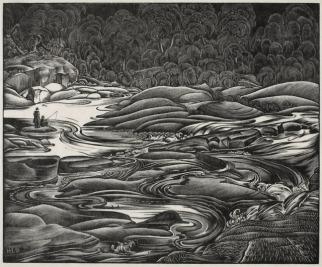 """H. Eric Bergman, """"Whirling Water"""" (1939)"""