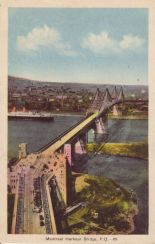 Montreal Harbor Bridge, Postmarked 1941