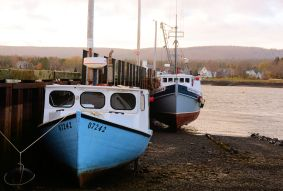 Boats at Low Tide, Annapolis Royal, N.S.