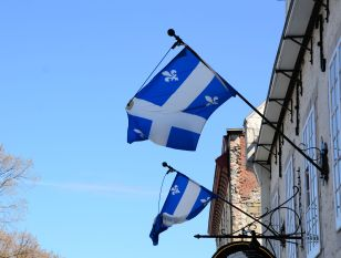 Quebec Flags Flapping, Quebec City, Quebec