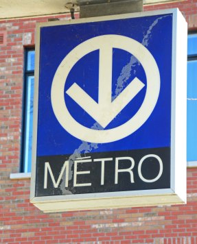 Metro Sign, Montreal