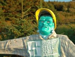 Monster Mask Scarecrow, Cap Le Moine, Cape Breton, N.S.