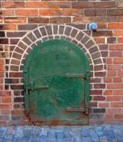 Cast Iron Door, Distillery District, Toronto