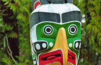 Totem Face, Stanley Park, Vancouver