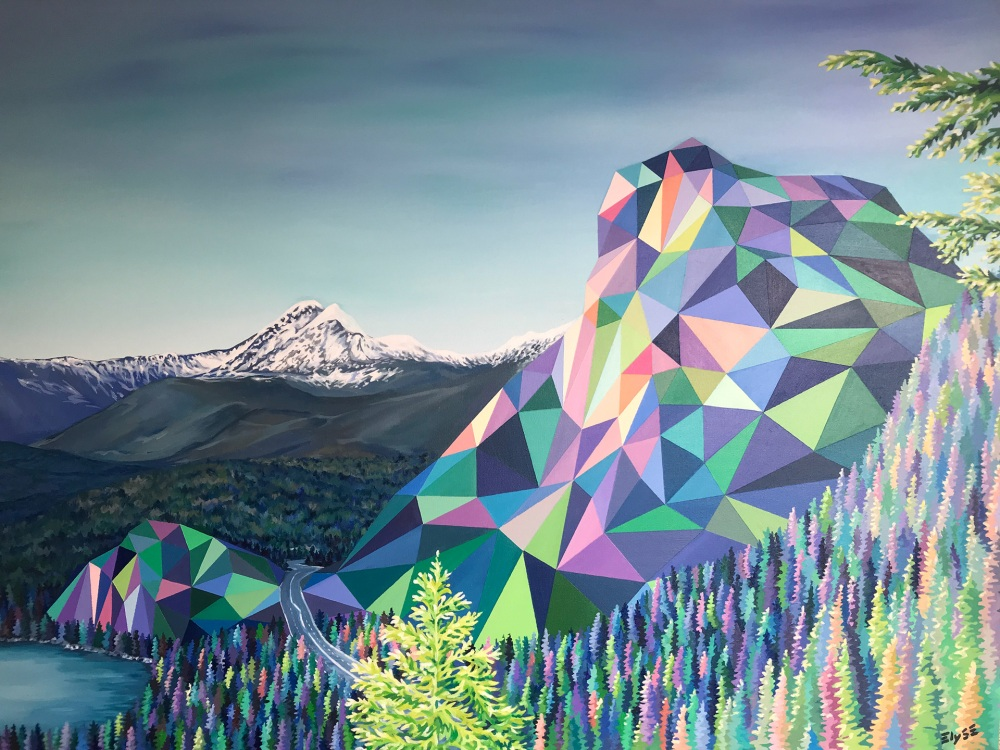 Elyse Dodges Imaginative Geometric Landscapes